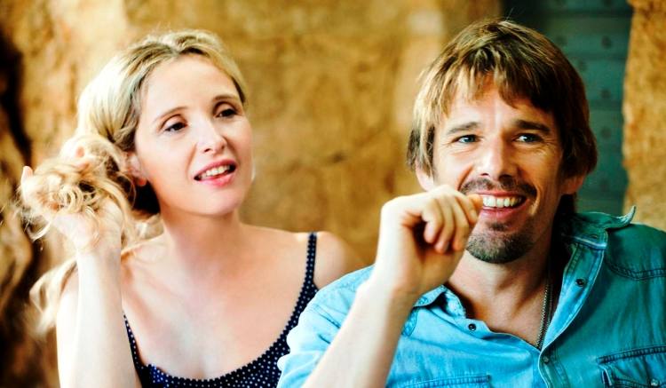 Julie Delpy and Ethan Hawke, still romancing each other in 'Before Midnight'