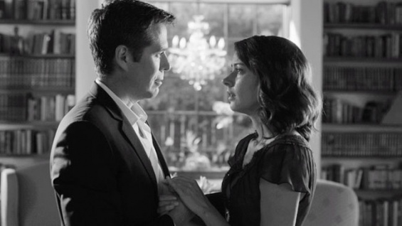 Alexis Denisof  and Amy Acker play Benedick and Beatrice in Joss Whedon's 'Much Ado About Nothing'