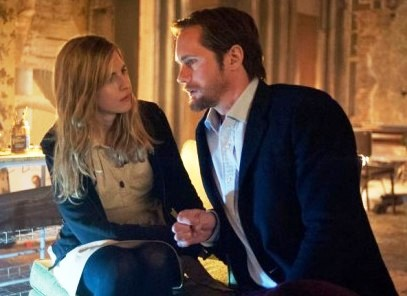 Brit Marling and Alexander Skarsgard in 'The East'
