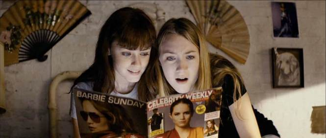 Alexis Bledel and Saoirse Ronan get all giggly before their next hit in 'Violet and Daisey'