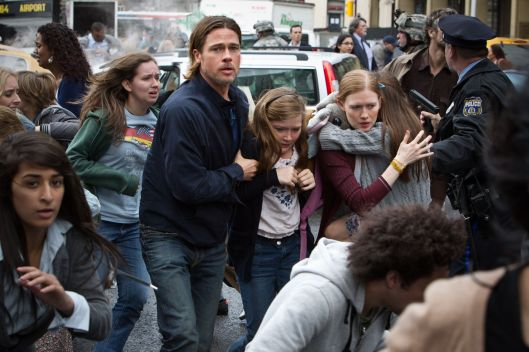 Brad Pitt tries to save his family in 'World War Z'