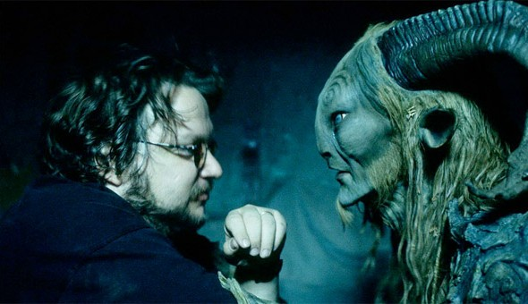 Guillermo Del Toro ponders one of his 'Pan's Labyrinth' beasts.