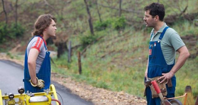 Emile Hirsch and Paul Rudd get on each other's nerves in 'Prince Avalanche'.