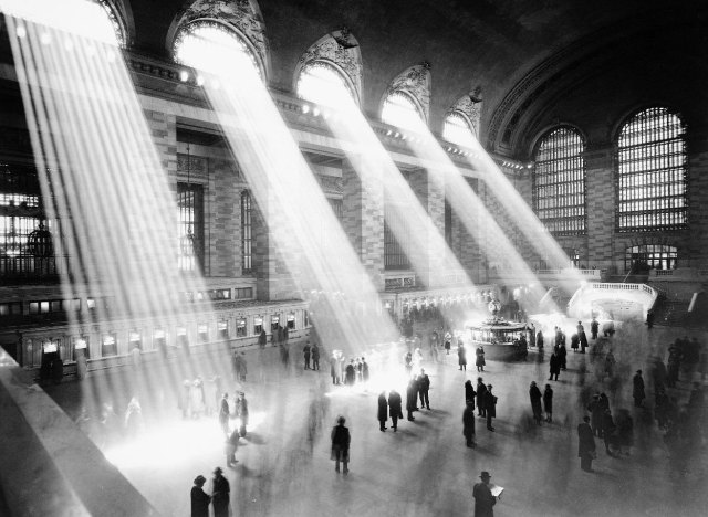 Grand Central Station, circa 1937 - one of the images available from New York city's Municipal Archives.