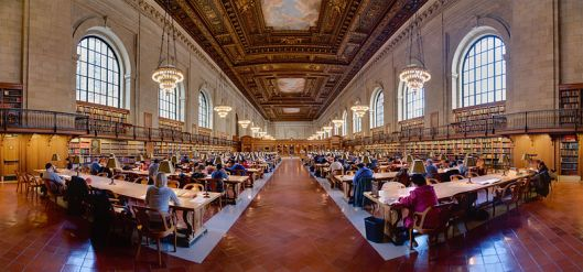 The New York Public Library's Main Reading Room.