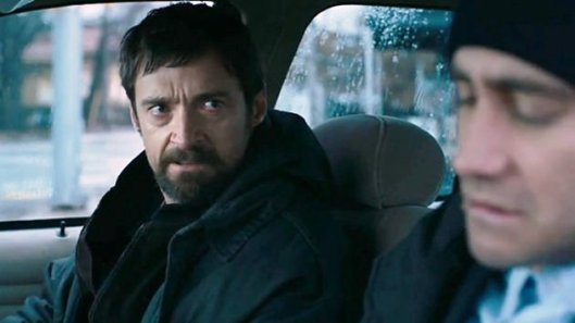 Hugh Jackman and Jake Gyllenhaal in 'Prisoners'.