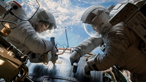 Sandra Bullock and George Clooney in 'Gravity'