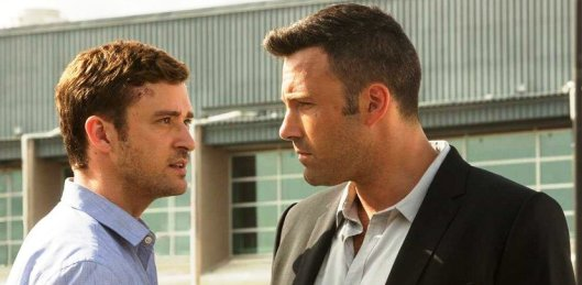 Justin Timberlake and Ben Affleck wonder what 'Runner Runner' means