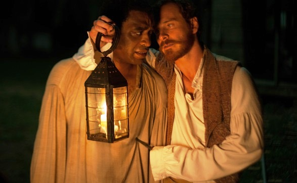Chiwetel Ejiofor and Michael Fassbender in '12 Years a Slave'