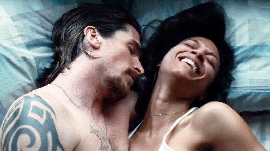 Christian Bale and Zoe Saldana in 'Out of the Furnace'
