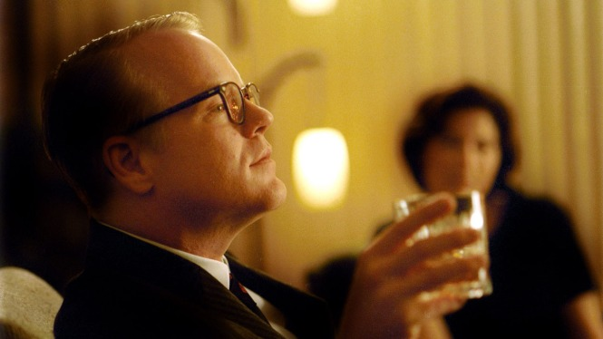 "Philip Seymour Hoffman as Truman Capote: ""Folks have thought they had me pegged, because of the way I am, the way I talk. And they're always wrong."""
