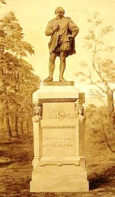 Shakespeare's statue in Central Park (Library of Congress)