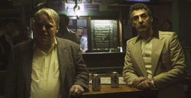 Philip Seymour Hoffman and John Turturro in 'God's Pocket' (image courtesy of IFC Films)
