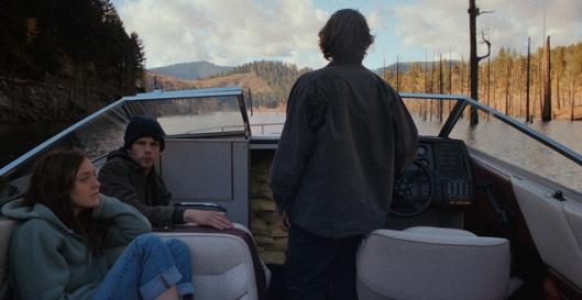 Dakota Fanning, Jesse Eisenberg, and Peter Sarsgaard in 'Night Moves' (Cinedigm)