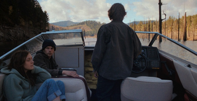 Dakota Fanning, Jesse Eisenberg, and Peter Sarsgaard in 'Night Moves' (Cinedigm)
