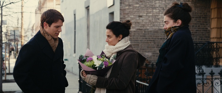 Jake Lacy, Jenny Slate, Gaby Hoffman in 'Obvious Child' (A24)