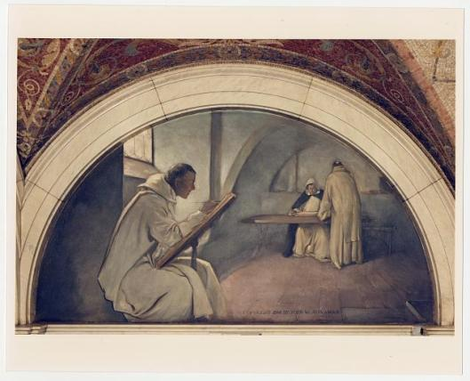 The Evolution of the Book mural at the Library of Congress (John White Alexander, c. 1896)