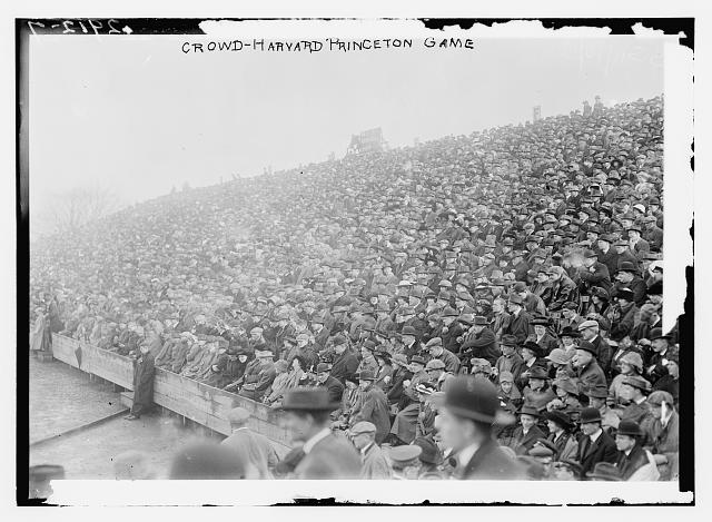 Crowd at a Harvard-Princeton football game, Nov. 8, 1913. (Library of Congress)
