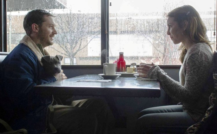 Tom Hardy, faithful dog, and Noomi Rapace in 'The Drop' (Fox Searchlight Pictures)