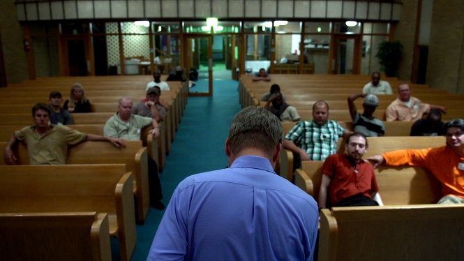 A church becomes a sanctuary in 'The Overnighters' (Drafthouse Films)