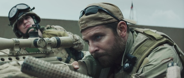 Bradley Cooper (right) as Chris Kyle in 'American Sniper' (Warner Bros.)