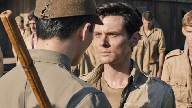 Jack O'Connell faces down a sadistic prison guard in 'Unbroken' (Universal Pictures)