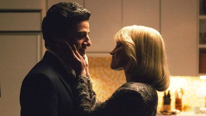 Oscar Isaacs and Jessica Chastain plot in 'A Most Violent Year' (A24)