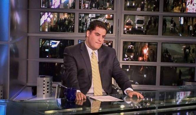 Cenk Uygur getting ready for his closeup in 'Mad as Hell' (Oscilloscope Laboratories)