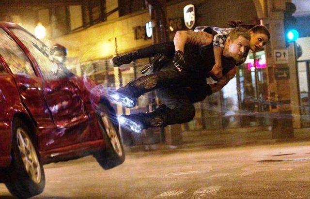 'Jupiter Ascending': Check it out, hover boots! (Warner Bros.)