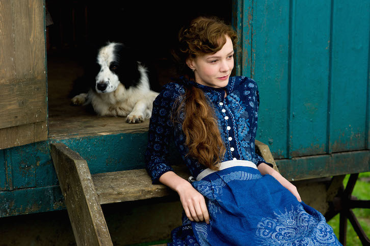 Carey Mulligan and dog in 'Far from the Madding Crowd' (Fox Searchlight)