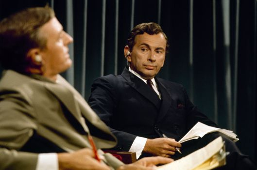 William F. Buckley and Gore Vidal think of new insults for each other. (Magnolia)