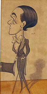 Max Beerbohm, self-caricature, c.1897.