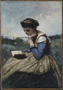 'A Woman Reading' by Camille Corot (c.1869)