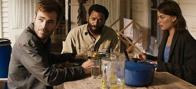 Chris Pine, Chiwetel Ejiofor, and Margot Robbie in 'Z for Zachariah' (Roadside Attractions)