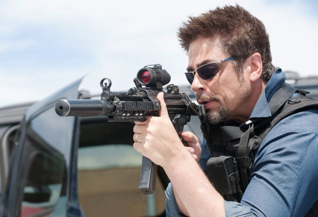 'Nothing will make sense to your American ears'; Benicio Del Toro in 'Sicario' (Lionsgate)