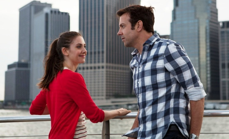 Alison Brie and Jason Sudeikis try to resist each other's charms in 'Sleeping with Other People' (IFC Films)