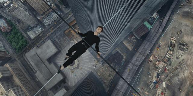 Philippe Petite (Joseph Gordon-Levitt) defies gravity in 'The Walk' (TriStar Pictures)