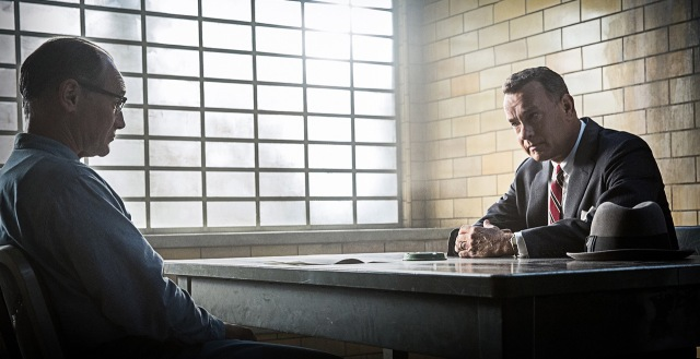 Mark Rylance and Tom Hanks glare like they mean it in 'Bridge of Spies' (Dreamworks)