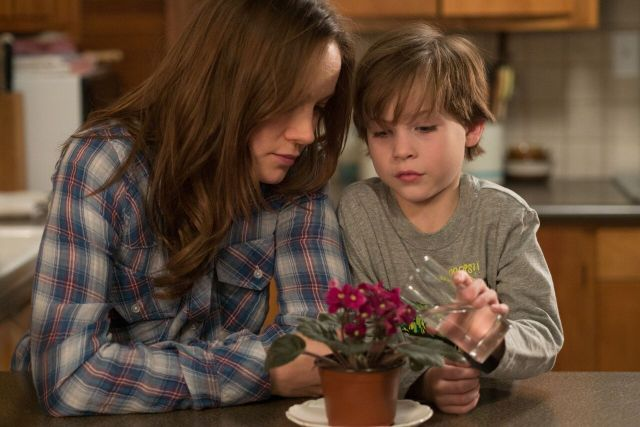 Brie Larson and Jacob Tremblay in 'Room' (A24)