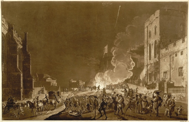 Guy Fawkes' Night celebrations at Windsor Castle, 1776