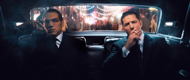 Tom Hardy and Tom Hardy in 'Legend' (Universal Pictures)