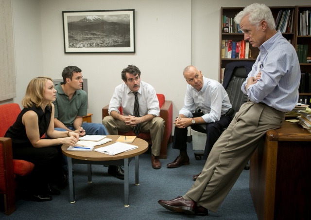 Rachel McAdams, Mark Ruffalo, Brian d'Arcy James, Michael Keaton, and John Slattery in 'Spotlight' (Open Road Films)