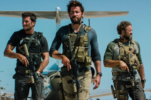Pablo Schreiber, John Krasinski, and David Denman in '13 Hours' (Paramount Pictures)