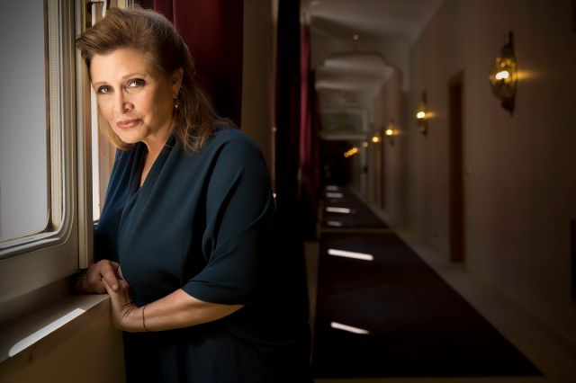 Carrie Fisher at the 2013 Venice Film Festival (Riccardo Ghilardi)